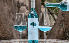 Natural blue wine is sold in France